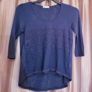 Women's About a Girl 3/4 Sleeve Blouse - M